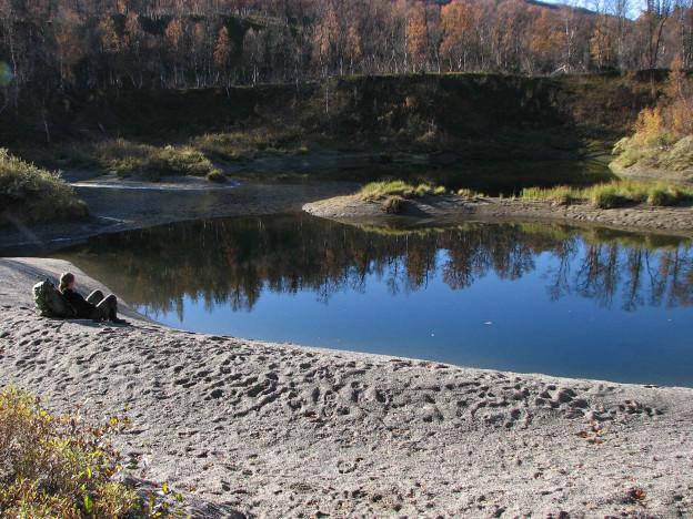 Lågvatten i Dolinsjön